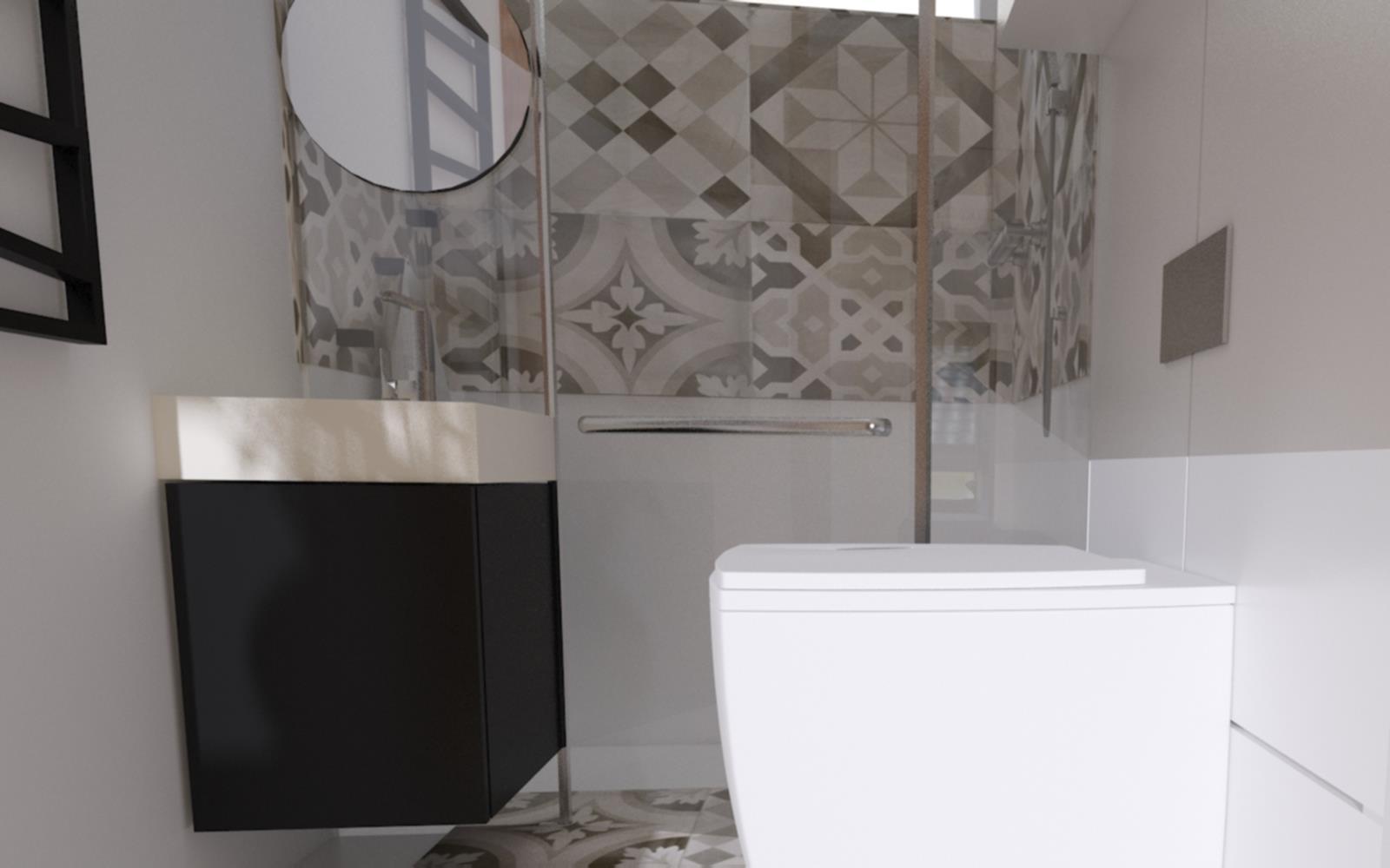 Dom W Sandomierzu Projekt łazienki Na Parterze Face The Space