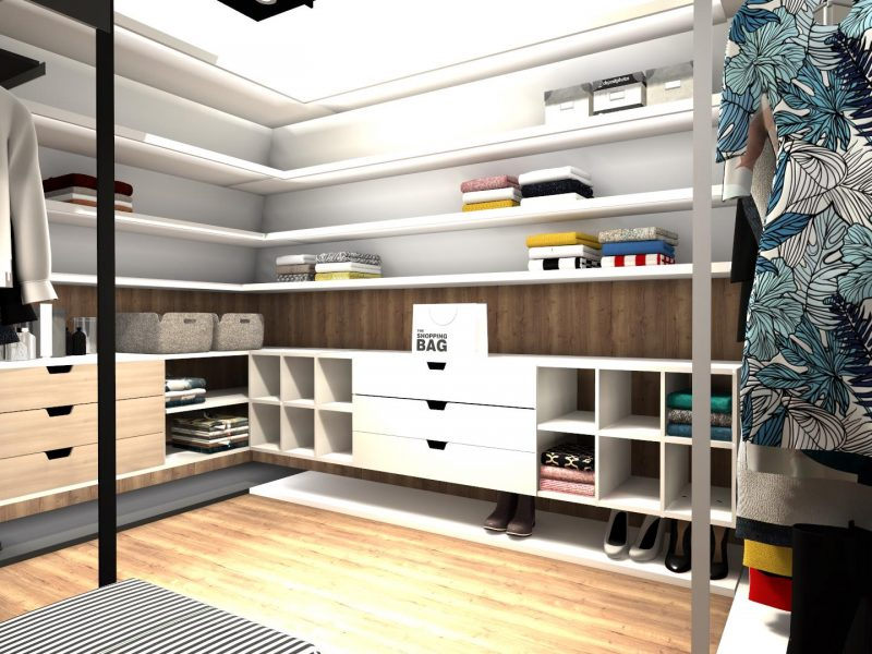 Garderoba pod skosami